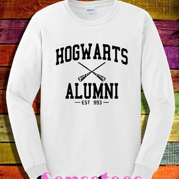 hogwarts alumni shirt long sleeve harry potter magic spell shirt tshirt t-shirt tee shirt unisex