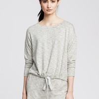 Banana Republic Womens Drawstring Modal Lounge Sweatshirt