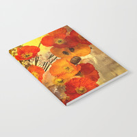 Poppy Expressions Notebook by Theresa Campbell D'August Art