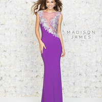Madison James 15-150 Sheer Illusion Prom Dress
