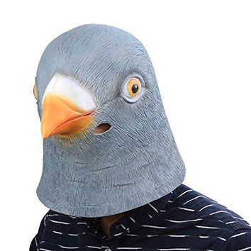 Pigeon Latex Head Mask Rubber Animal Head Mask Halloween Novelty Costume Masks