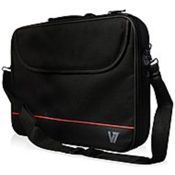 V7 Essential Laptop Carrying Case for 15.6-inch Notebook - Polyester - Black/Red
