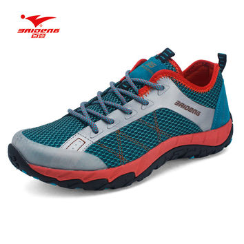 Baideng Brand Mesh New Men hiking shoes Summer style Cool Breathable outdoor climbing shoes hiking camping shoes
