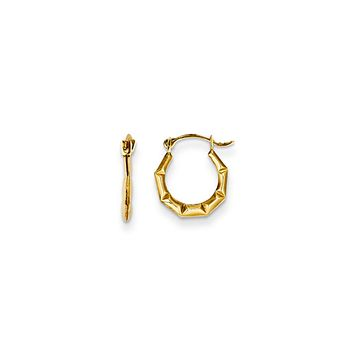 12mm Children's Geometric Hinged Post Hoop Earrings in 14k Gold