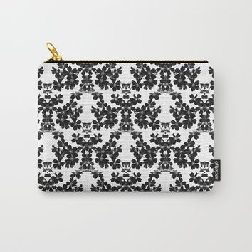 primrose bw pattern Carry-All Pouch by ARTbyJWP