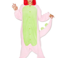 Sazac Pink Dinosaur Kigurumi LIGHT PINK One