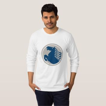 Prancing Horse Side Circle T-Shirt