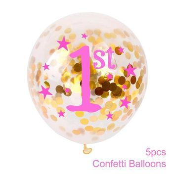 5pcs 12 Inch Happy Birthday Printed Inflatables Balloons