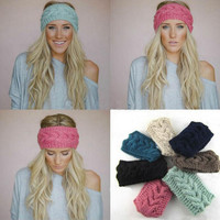 Knitted Sport Stretch Headbands