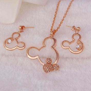 Mickey Mouse Necklace and Earring Set