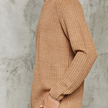 Chunky Ribbed Knit Sweater