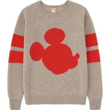 WOMEN Disney Project LAMBS WOOL SWEATER | UNIQLO