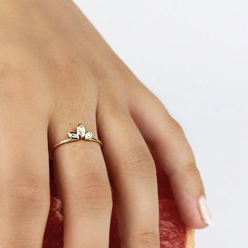 Dainty ring, Gold ring, Minimalist ring, Delicate ring, Tiny ring, Stacking ring, Stackable ring, Minimalist jewelry, Thin gold ring
