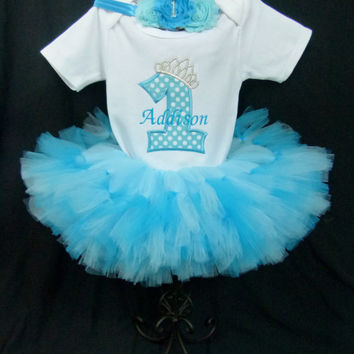 1st Birthday Girl Princess Personalized First Birthday Legwarmer Girl Outfit