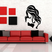 Wall Decor Vinyl Sticker Room Decal Art Girl Fashion Hair Salon Model Sexy 1093