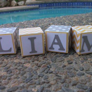 Baby Name Blocks, Wooden Name Blocks, Name Blocks, Baby Boy, Baby, Newborn, Baby Gift, Baby Shower, Blocks, Baby Nursery, Nursery, Baby Name