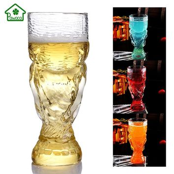 350ml Creative Bar Red Wine Glass World Football Cup Champion Trophy shape Beer Cup High Borosilicate Glass for whiskey Cocktail