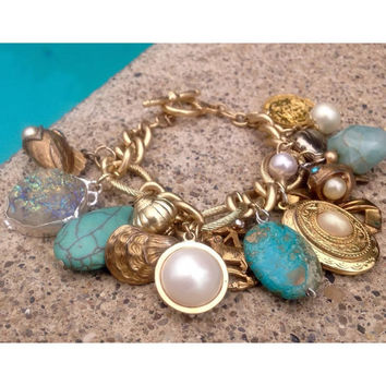 ViWv Mermaid's Treasure Charmed Bracelet /
