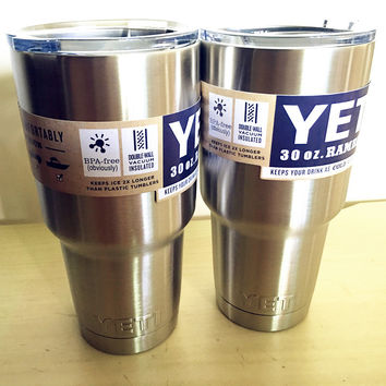 6 Colors 2 Pcs Cheap 30 oz YETI Rambler Tumbler Cooler Cup Vacuum Insulated Vehicle Coffee Beer Mug Cups Free Shipping