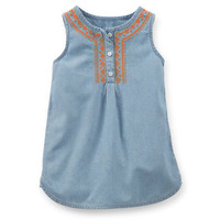 Chambray Embroidered Tunic