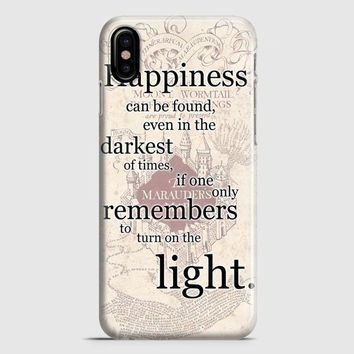 Happiness Quote Harry Potter iPhone X Case