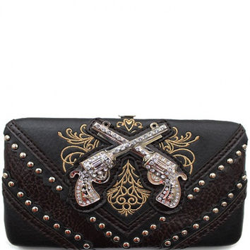 Western: Six Shooter w/ Rhinestone Wallet