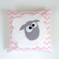 luxury pillow and cushion cover,black,white,sheep,lamb,baby gift,handmade,kids