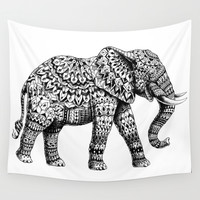 Ornate Elephant 3.0 Wall Tapestry by BIOWORKZ