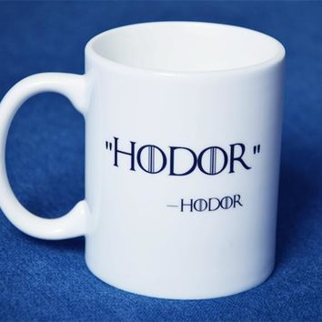 New Quality Ceramic Coffee Mug Cup Of  Game of Thrones Hodor Hold The Door