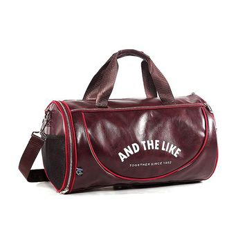 Sports gym bag 2017 High Quality Men leather travel duffle bag sac de voyage Cossbody Men Bag bolsa de couro masculina gym bag  KO_5_1