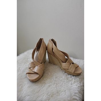 Cole Haan Leather Wedge Sandals (7.5)