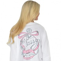 Be Classy Always Long Sleeve Tee in White by Lauren James