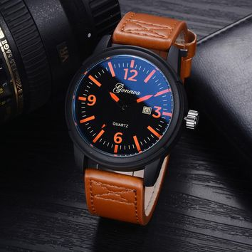 GONEWAsiness Men Fashion Luxury Watch Casual Full Steel Calendar Quartz