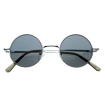 Small Retro Lennon Style Round Dapper Sunglasses 8237