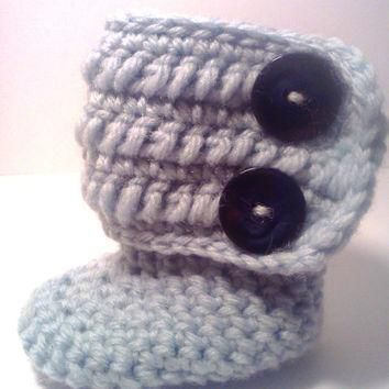 Crocheted Baby Booties Uggs Adjustable Strap Photography Prop Custom