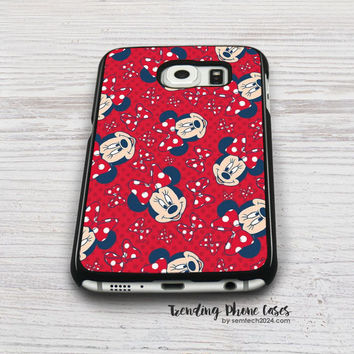 Disney Minnie Red Bow Wallpaper Samsung Galaxy S6 Case Cover for S6 Edge S5 S4 Case