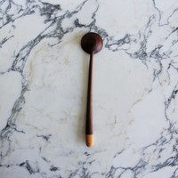 walnut spoon with apple handle 2