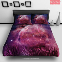 Orion Nebula Galaxy Universe Bedding sets Home & Living Wedding Gifts Wedding Idea Twin Full Queen King Quilt Cover Duvet Cover Flat Sheet Pillowcase Pillow Cover 001