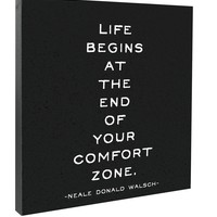 Life Begins At The End Quotable Canvas