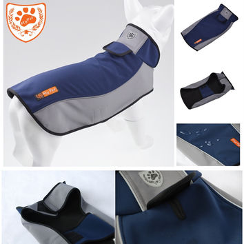 My pet Brand Spring Blue S- 3XL Dog Raincoats Easy Wear Reflective Waterproof Pet Warm Outdoor Dog Clothes ropa perro JK12001