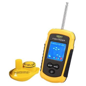 100M Portable Sonar LCD Fish Finder w/ Alarm