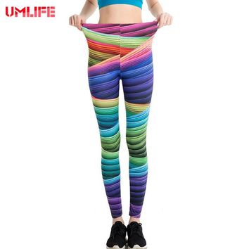 UMLIFE Fitness Yoga Pants Colorful Print  Sports Leggings For Women Push Up Clothing Sport Trousers Running Tights Women Pants