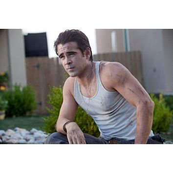 Colin Farrell poster Metal Sign Wall Art 8in x 12in
