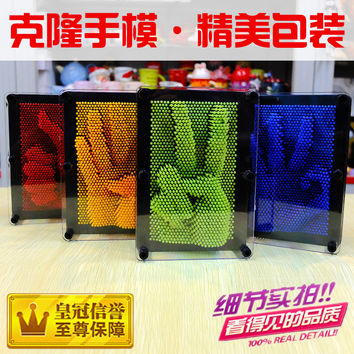 candice guo Plastic toy funny game Pinart 3D clone shape pin art Pinscreen needle children adult birthday gift 1pc
