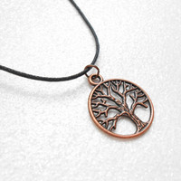 Copper Tree Necklace - Yggdrasil Tree Of Life - Wisdom Tree Pendant - Unisex Accessories