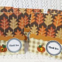 Mini Thank You Cards Autumn Themed Set of 18 by luvncrafts on Zibbet