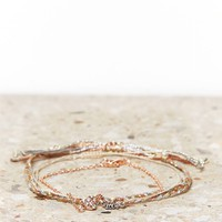 AEO ROSE GOLD BRACELET SET