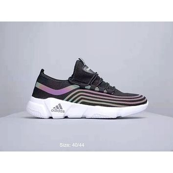 ADIDAS 2019 new color reflective reflective casual breathable sneakers Black