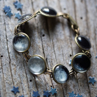 Moon Phase Bracelet - Space Jewelry, Lunar Phases