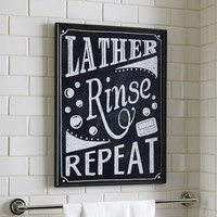 LATHER RINSE REPEAT SIGN
